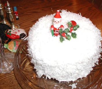Three Layer Coconut Cake