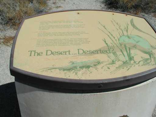 The deserted desert?