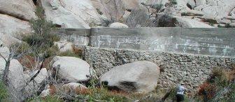 Barker Dam wall